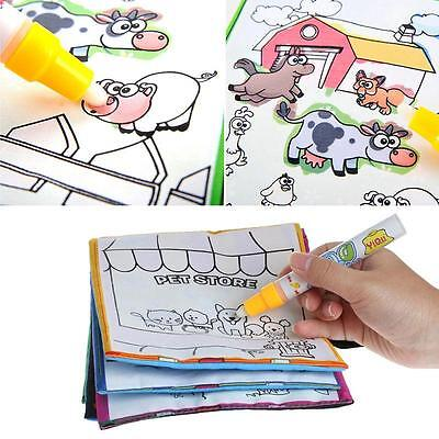 Kids Magic Water Drawing Book Pen Coloring Book Numbers Letters Animals Painting