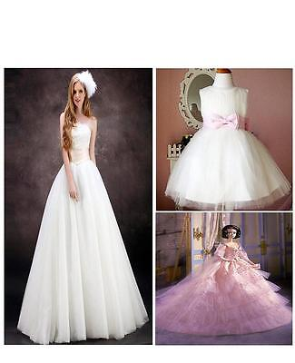 15cmx25yd TULLE Roll Spool Tutu Wedding Decoration Party Multicolours Pick EC