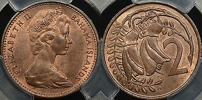 New Zealand-Bahamas 1967 2c/5 cent Mule Error PCGS MS64RB Choice Uncirculated