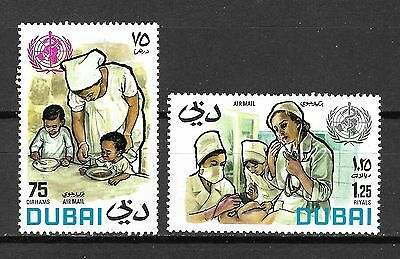 Dubai Sc#C63-4 MNH World Health Day, 1972/Nurse & Children