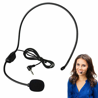 3.5MM Wired Microphone Headset Studio Guide Speech Speaker Stand Headphone HCXM