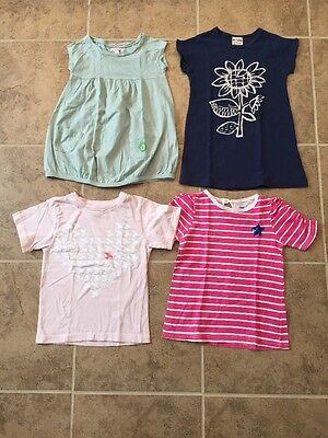 Pre-owned Girls Short Sleeves Tshirts Size3-4: Egg, Cotton On Kids