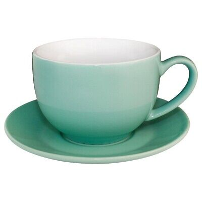 Olympia (Pack of 12) Cafe Cappuccino Cups 340ml Aqua BARGAIN