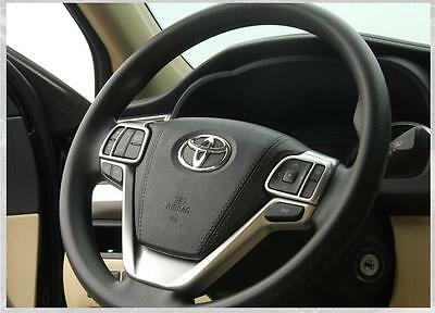 For Toyota Highlander/Kluger 14-17 Car ABS Chrome Steering Wheel Panel Cover