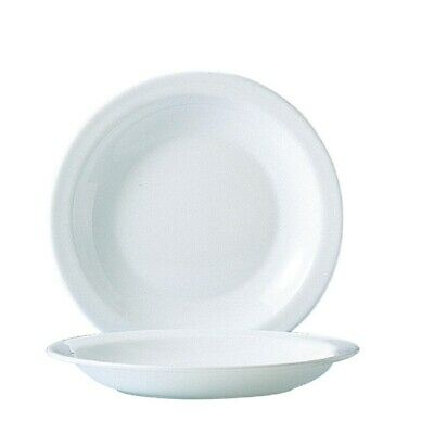 Arcoroc (Pack of 24) Opal Soup Plate 225mm BARGAIN
