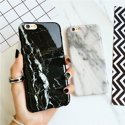 Art Marble Stone Granite Rock Thin Soft Case Skin Cover TPU For iPhone 7 Plus