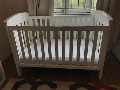 Boori Classic Cot Bed - White Cot - with Mattress and Tidy Draw