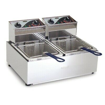 Commercial Roband Double Deep Fryer Fish Chips Chicken Frying Machine F25