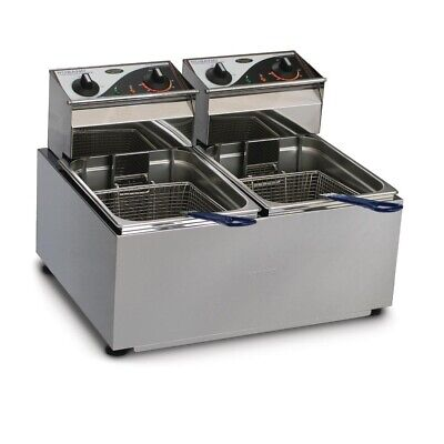 Commercial Roband Double Deep Fryer Frying Machine Chicken Fish Chips F28