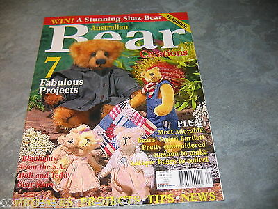 Australian Bear Creations Volume 10 No 4 Yearbook Teddy bears to make