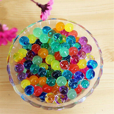 1000 PCS Water Colorful Balls Crystal Pearls Jelly Gel Bead for Kids Toys Refill
