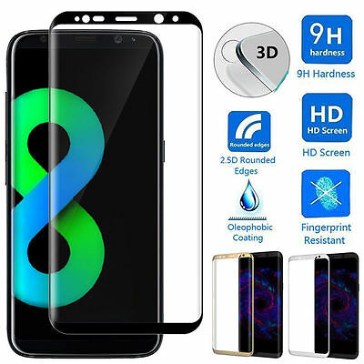 3D Full Cover Tempered Glass Screen Protector Film For Samsung Galaxy S8 S9 Plus