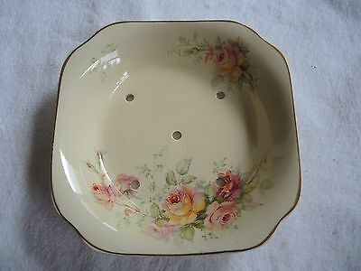 Royal Staffordshire Pottery Salad drainer bowl Honeyglaze Floral dance