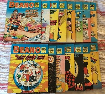 15 ISSUES OF THE BEANO - COMIC LIBRARY - Job Lot. Bargain. Collection. Rare.