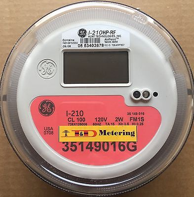 Ge, General Electric Watthour Meter Kwh, I-210, Fm1S, 4 Lug, 2W, 120V, 100A,