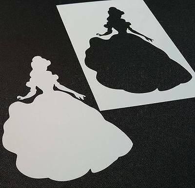 Princess Belle Beauty and the Beast Style Reusable Stencil Wall Party Cake Paint