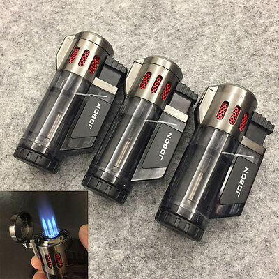 3 PCS JOBON High Capacity Triple Jet Torch Gas Lighter for Cigar Cigarette Black
