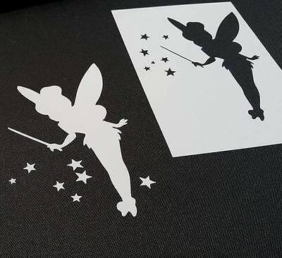 Princess Fairy Tinker Bell Reusable Stencil Wall Party Cake Card Paint Icing Cup