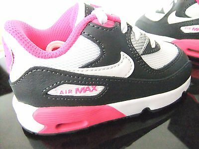 Original Toddler Infant Girls Nike Air Max 90 Mesh Td Sports Casual Trainers