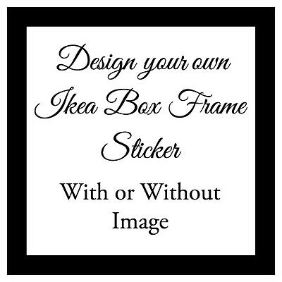 Vinyl Sticker 20x20cm DIY Box Frame Personalised DESIGN YOUR OWN gift Money Box