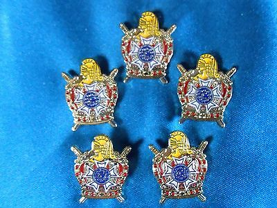 Five Masonic - Order of DeMolay Lapel Pins (PSCP09)*