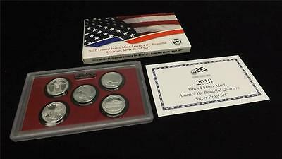 2010 S US Mint Silver Proof Quarter Set America The Beautiful