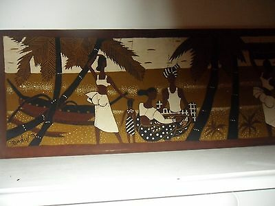 Very Large Silk Screen Print Picture 48 Inches X 12 1/2 Inches
