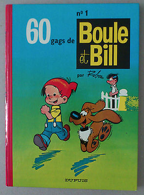 Roba   **  Boule Et Bill 1. 60 Gags  ** Dos Rond 1973 Tbe