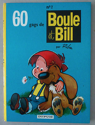 Roba   **  Boule Et Bill 2. 60 Gags  ** Dos Rond 1967 Tbe