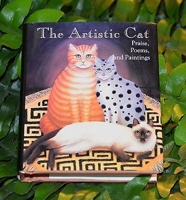 """The Artistic Cat (Mini Book 2 3/4"""" X 3 1/4"""") Praise Poems Paintings Perfect Gift"""