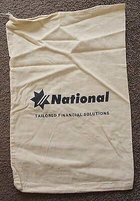 National Australia Bank Cloth / Calico Money / Coin Bag - Tailored Solutions