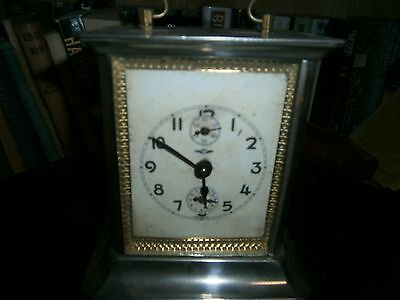 Large German Carriage Clock - 1925 Musical Alarm In Good Condition