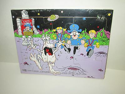 Cap'n Crunch Cereal Soggie On The Run Wood Frame Tray Puzzle 1987 Quaker Oats