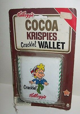 Vintage Kellogg's Cocoa Rice Krispies Crackle Cereal Character Vinyl Wallet 1984