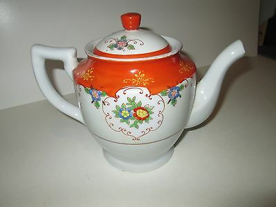 Vintage Hand Painted Japan Porcelain Ceramic Teapot Japanese # 2748