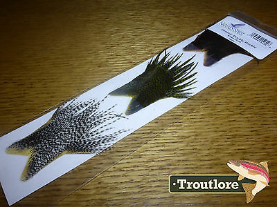 Nature's Spirit Genetic Dry Dly Hackle 3-Pack - New Fly Tying Whiting Feathers