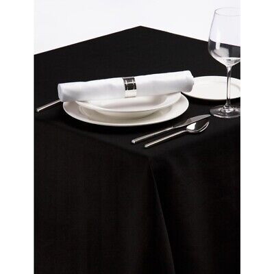 Palmar Polyester Tablecloth Black 54in BARGAIN