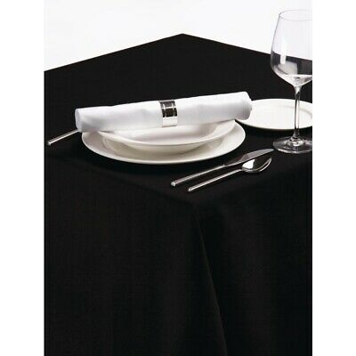 Palmar Polyester Tablecloth Black 90in BARGAIN
