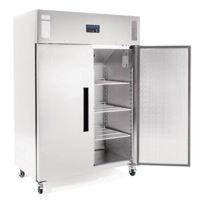 Commercial Polar 2 Door Two Doors Upright Freezer 1200Ltr Stainless Steel