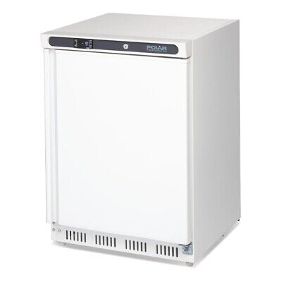 Commercial Polar Undercounter Under Bench Counter Table Freezer 140Ltr White