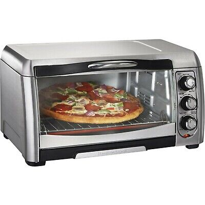 Hamilton Beach 6 Slice Convection Toaster Oven Stainless Steel Silver