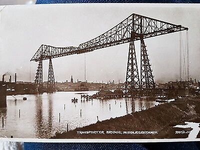 Real Photo Postcard. The Transporter Bridge, Middlesbrough