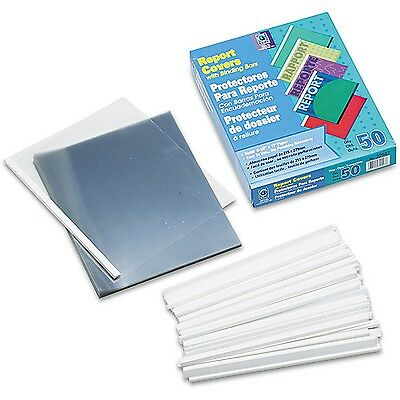 "C-Line Vinyl Report Cover Binding Bar Letter 1/8"" Capacity 50/Box"