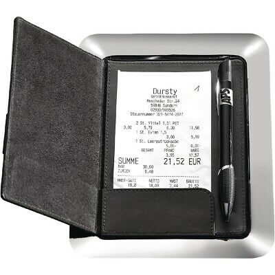 APS Stainless Steel and Leather Bill Presenter BARGAIN