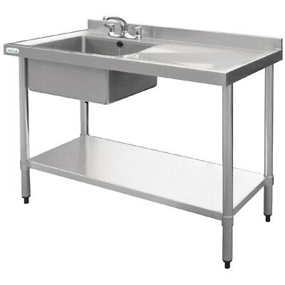Vogue Single Bowl Sink Right Hand Drainer 1000mm BARGAIN