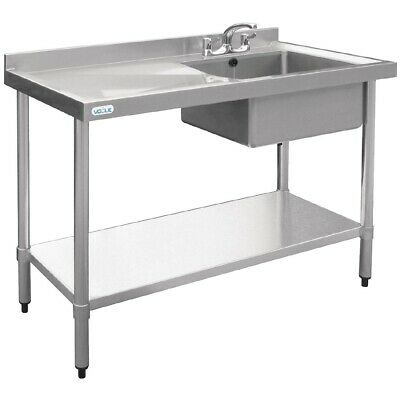 Vogue Single Bowl Sink Left Hand Drainer 1000mm BARGAIN