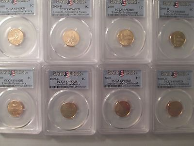 2009 P&D  PCGS SP68RD  LINCOLN CENTS Satin Finish (8) Coin Set