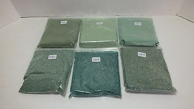 Six Bags of Ground Cover for Model Railroading Various Colors (C2)