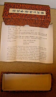 NIB City of Cathay Scroll - Reproduction - Color and Ink on Silk