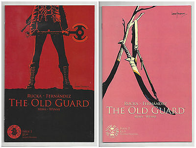 THE OLD GUARD #1 & 2 (2nd PRINT) IMAGE GREG RUCKA Movie Option! SOLD OUT 2017 NM